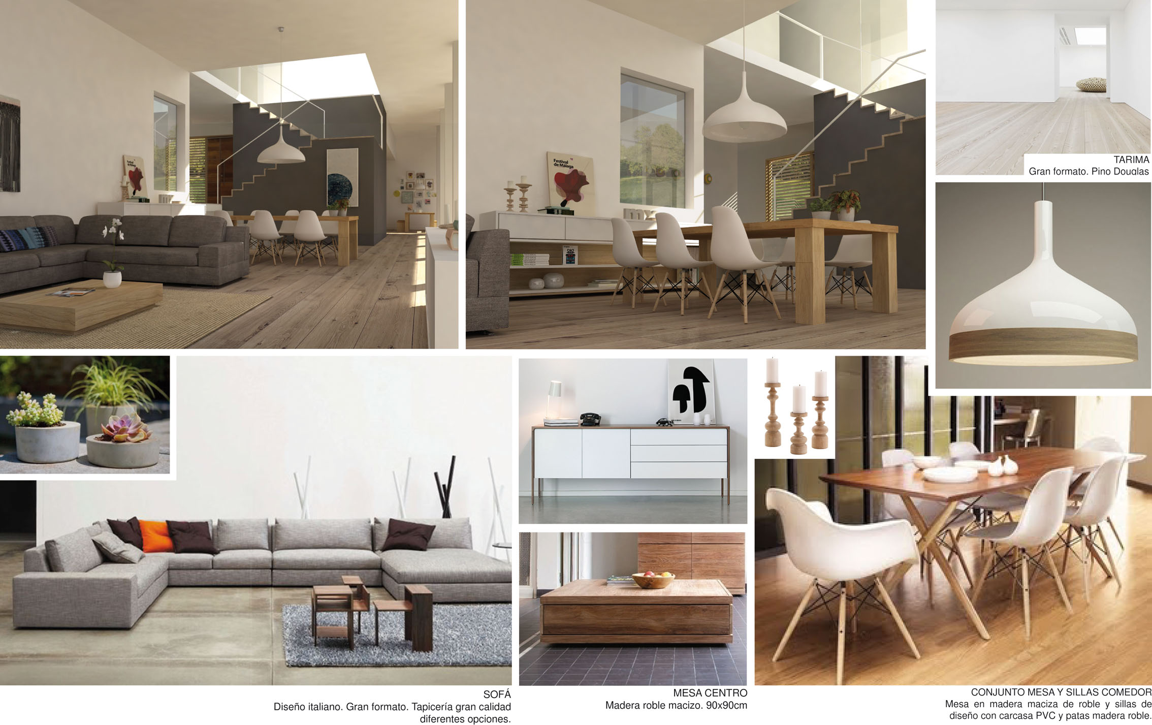 Proyectos de interiorismo y decoraci n integral en m m for Laminas salon decoracion